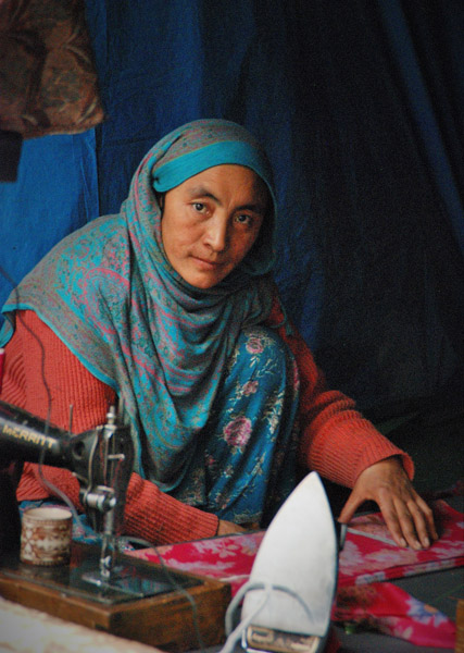 A tailor in Kargil, Jammu & Kashmir. (Photo: Naomi Hellmann)