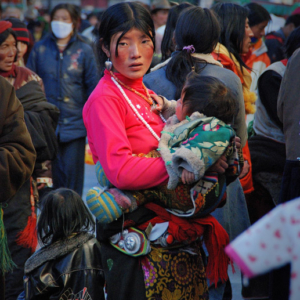Circling the Barkhor in Lhasa, Tibet. (Photo: Naomi Hellmann)