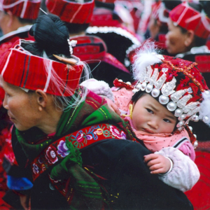 Celebrating Sister Festival in Shidong, Qiandongnan, Guizhou. (Photo: Naomi Hellmann)