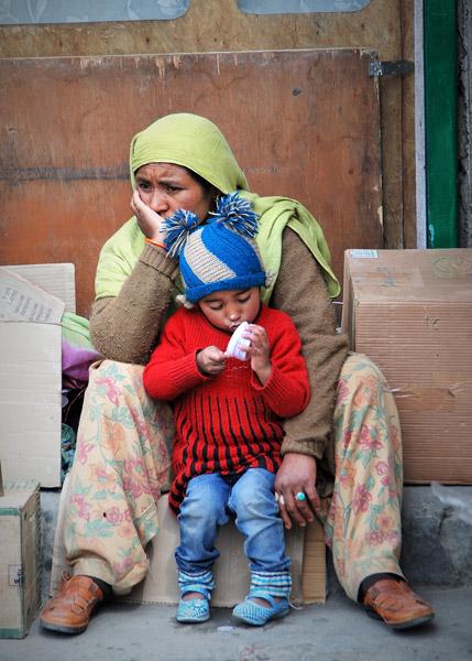 Eating ice cream in Kargil, Jammu & Kashmir. (Photo: Naomi Hellmann)