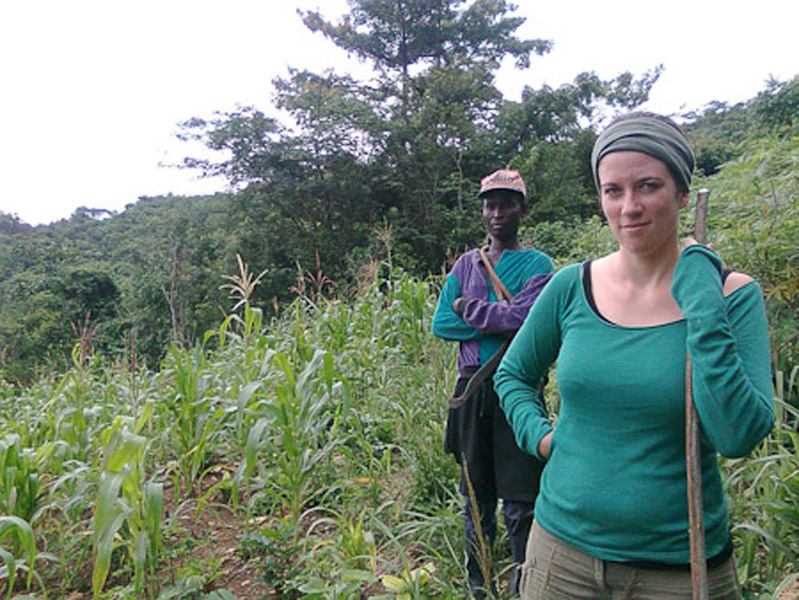 Annelies (the researcher) and Kwasi Boahene. (Photo: Annelies Kusters)