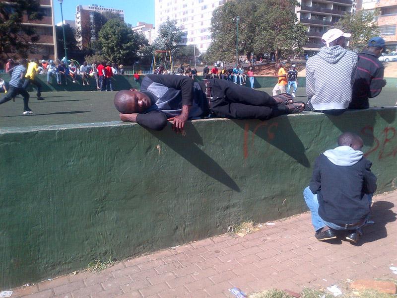Balanced Nap, Berea Park. (Photo: Raji Matshedisho)