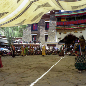 Cham Dance at Mindroling Monastery, Tibet. (Photo: Dan Smyer Yu)
