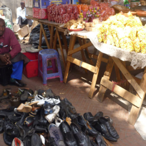 Cobbler at Quartz Street Market. (Photo: Raji Matshedisho)