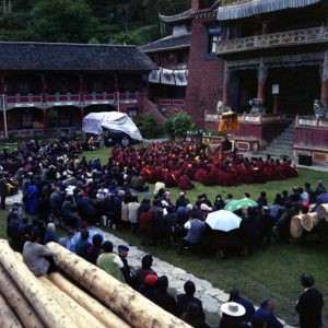 Dharma event at a monastery in Kangding, Sichuan Province. (Photo: Dan Smyer Yu)