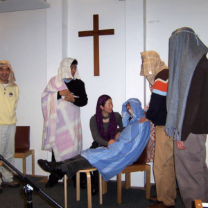 Drama playing on a Chinese Christian family camp, Milton Keynes, the UK. (Photo: Yuqin Huang)