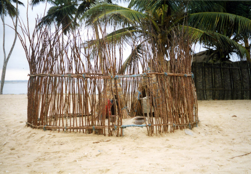 Fisher shrine for a goddess of the sea (Central Region, Ghana). (Photo: Boris Nieswand)