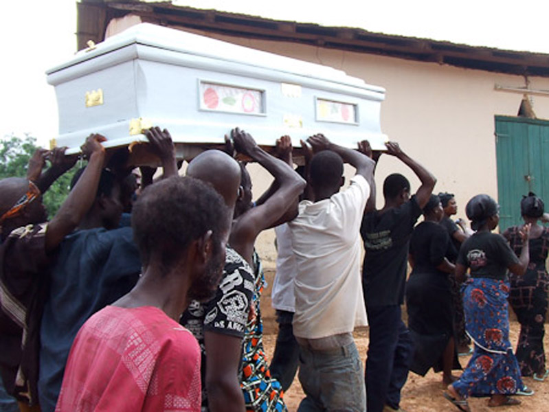 Funeral of a deaf man. (Photo: Annelies Kusters)