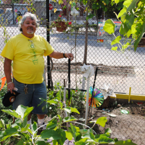 At Community Garden, Astoria, New York. (Photo: Dörte Engelkes)
