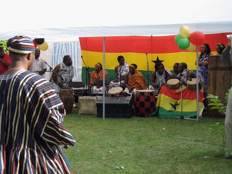 Ghanaian musicians, Ghana@50 celebrations, Berlin. (Photo: Boris Nieswand)
