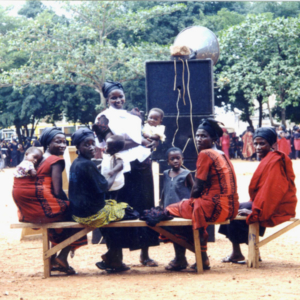 Guests at a funeral 2 (Dormaa Ahenkro, Ghana). (Photo: Boris Nieswand)