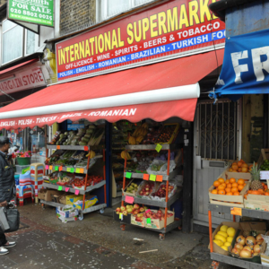 Corner-shop selling foods from all over the world. (Photo: Doerte Engelkes)