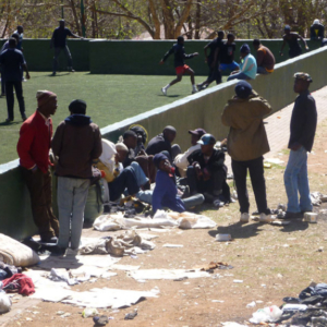 Home Grounds & Homelessness. (Photo: Raji Matshedisho)