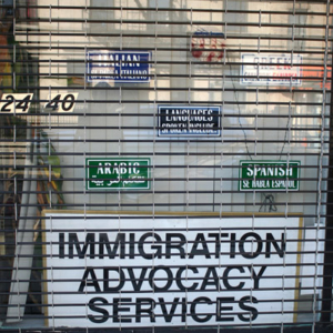 Multi-lingual immigration advocacy. (Photo: Steven Vertovec)