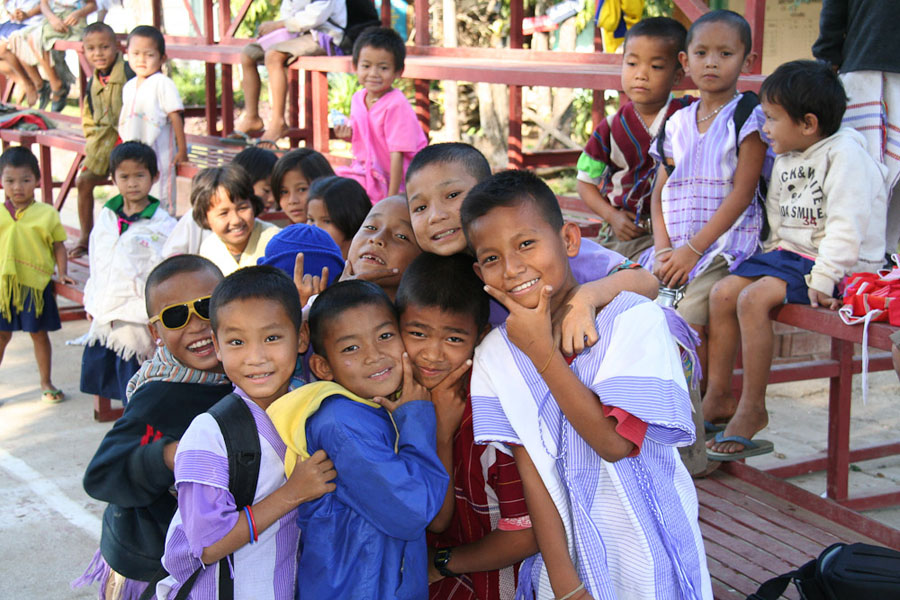 Kinder in der Schule, Nordwestthailand. (Photo: Alexander Horstmann)