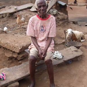 Kwabena Ofori, the oldest deaf man of Adamorobe. (Photo: Annelies Kusters)