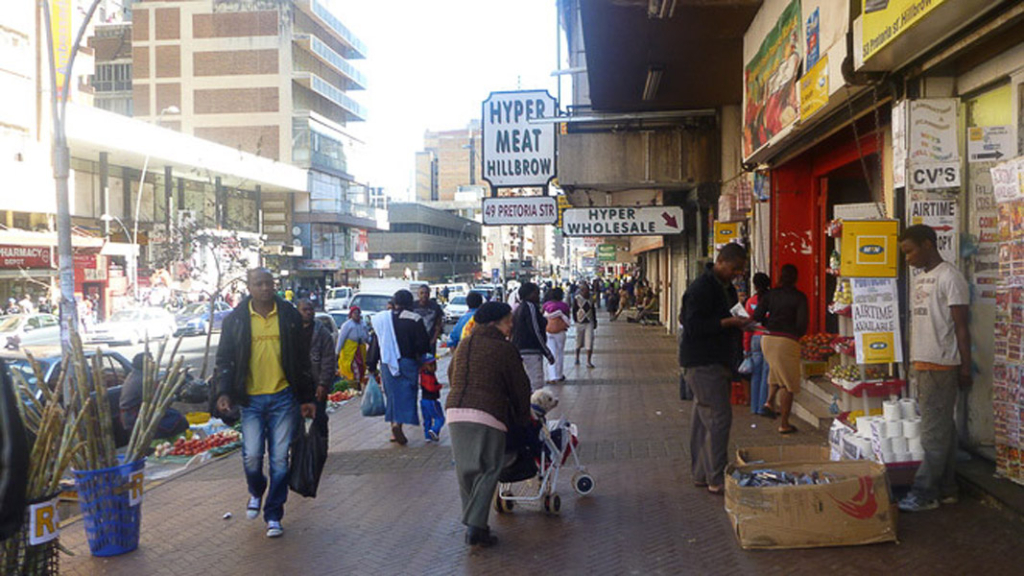 Old Bernice in 'New' Hillbrow, Pretoria Street. (Photo: Raji Matshedisho)