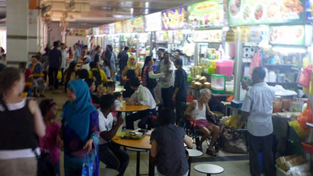 Hawker centre (multi-ethnic food court), Singapore. (Photo: Steven Vertovec)