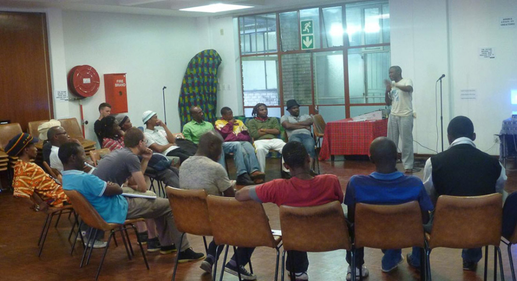 Peer Learning, Hillbrow Youth Centre. (Photo: Raji Matshedisho)