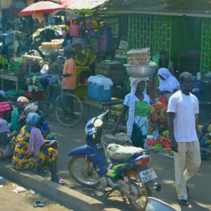 Kintampo marketplace. (Photo: Elena Gadjanova)