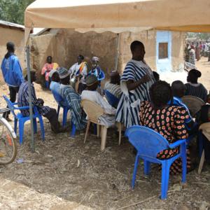Chiefs and village elders, Nangodi, Ghana. (Photo: Elena Gadjanova)