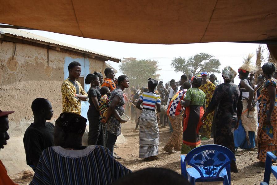 Traditional funeral dances, Upper East Region, Ghana. (Photo: Elena Gadjanova)