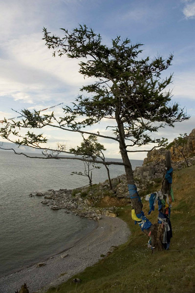 Sacred site, Olkhon Island, Lake Baikal. July 2005. (Photo: Justine Buck Quijada)