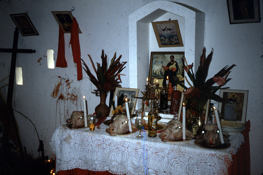 Shango altar, central Trinidad. (Photo: Steven Vertovec)
