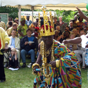 Togbui (traditional ruler) of the Hohoe Gbi Traditional Area, Ghana@50 celebrations, Berlin. (Photo: Boris Nieswand)