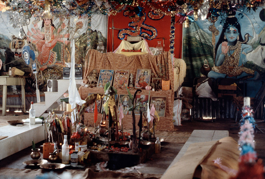 Yagna (religious reading) setting, southern Trinidad. (Photo: Steven Vertovec)