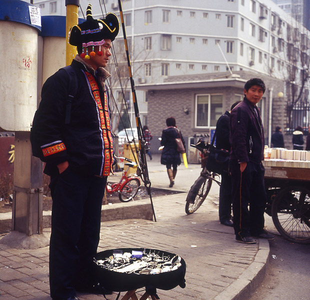A Hmong jewelry vendor in Beijing. (Photo: Dan Smyer Yu)