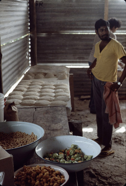 Cooking for ritual feast, southern Trinidad. (Photo: Steven Vertovec)