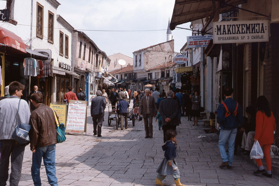 Shopping street in Skopje, Macedonia. (Photo: Steven Vertovec)