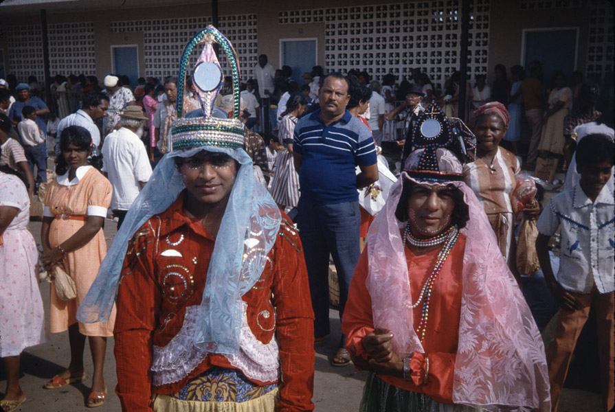 Transvestite dancers, Sipari Mai celebrations (church of La Divina Pastora), Siparia. (Photo: Steven Vertovec)
