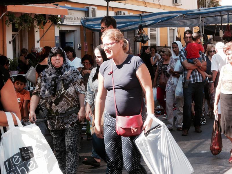 Street market II, Murcia, Spain. (Photo: Damian Omar Martinez)