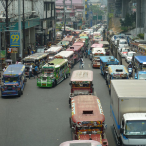 Jeepney Jam on Aurora Blvd. (Photo: Anderson Blanton)