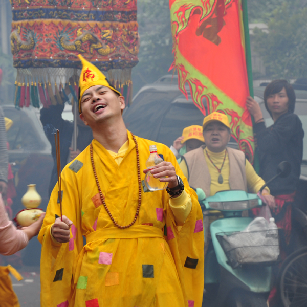 Taiwan – Spirit medium channelling the deity Jigong (2). (Photo: Fabian Graham)