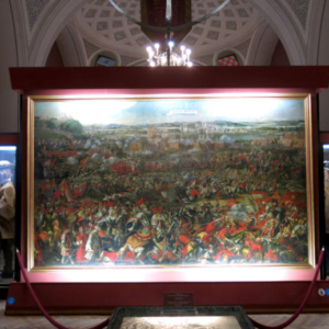 Monumental painting by an unknown artist at the Heeresgeschichtliche Museum depicting the relief battle of the 1683 Siege of Vienna. (Photo: Annika Kirbis)