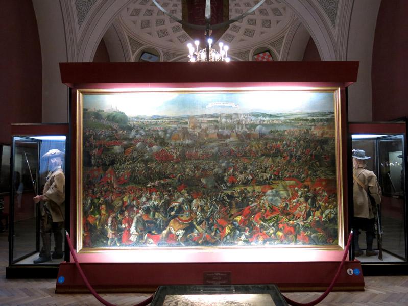 Monumental painting by an unknown artist at the Heeresgeschichtliche Museum depicting the relief battle of the 1683 Siege of Vienna. (Photo: Annika Kirbis)