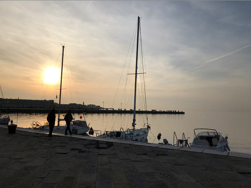 View from 'The Rive'. Walking from the main square, along the sea, the view is breath-taking. (Photo: Giulia Carabelli)
