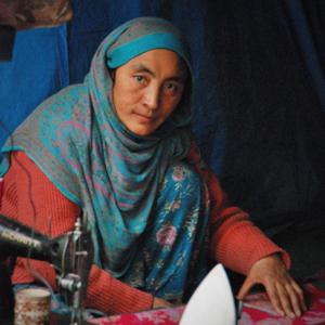 A tailor in Kargil, Jammu & Kashmir. (Photo: Naomi Hellmann)