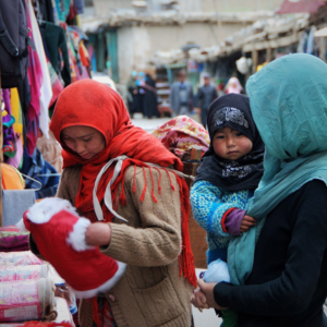Clothes shopping in Kargil, Jammu & Kashmir. (Photo: Naomi Hellmann)