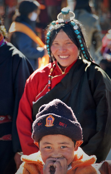 Visiting the Jokhang Temple in Lhasa, Tibet. (Photo: Naomi Hellmann)