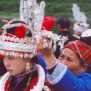 Celebrating Sister Festival in Shidong, Qiandongnan, Guizhou. (Photo: Naomi Hellmann)