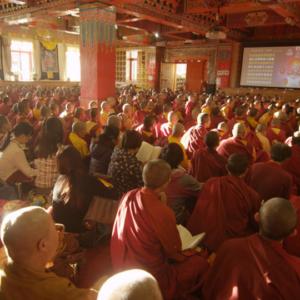 A classroom at Larung Gar Buddhist Academy, summer 2013. (Photo: Dan Smyer Yu)