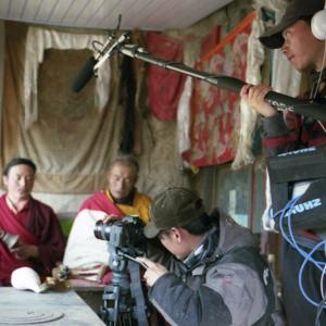 An MPI film team documentaing a tantric ritual in Amdo. (Photo: Dan Smyer Yu)