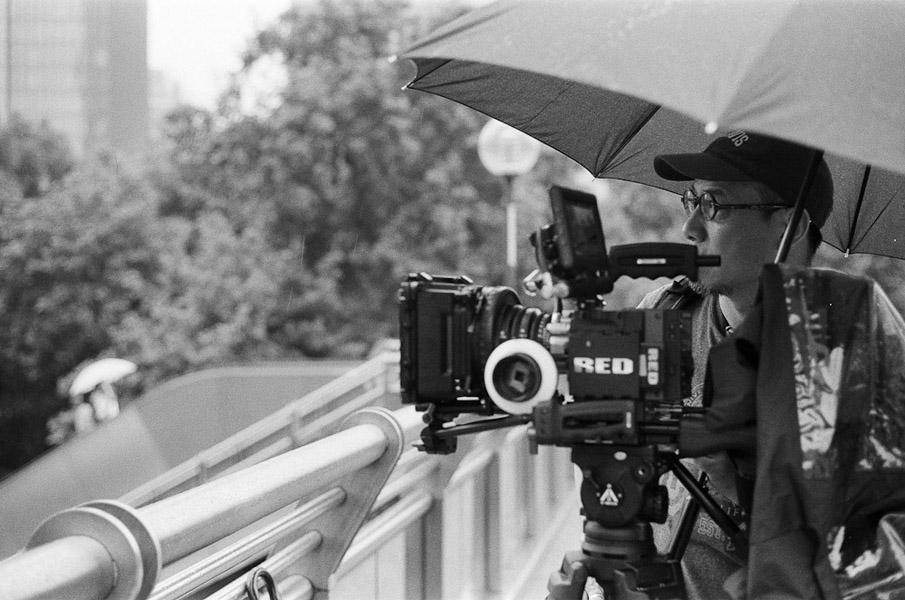 Dan Smyer Yu (MPI) filming in Shanghai. (Photo: Dan Smyer Yu)