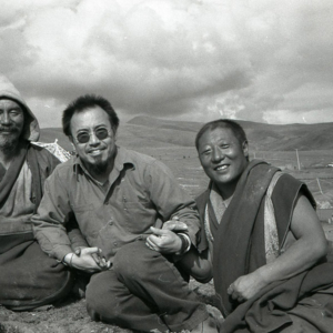 Dan Smyer Yu (MPI) with Akhu Choyang Rinpoche of Golok (left), Qinghai Prov. (Photo: Dan Smyer Yu)