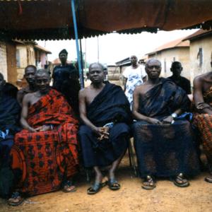 Elders at a funeral (Dormaa Ahenkro, Ghana). (Photo: Boris Nieswand)