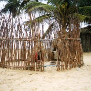 Fisher shrine for a goddess of the sea (Central Region, Ghana). (Photo: Boris Nieswand)